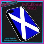 FITS IPHONE 4 / 4S PHONE SCOTLAND FLAG EMBLEM PLASTIC COVER